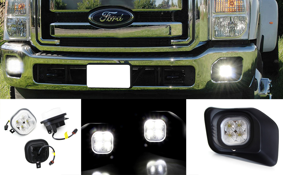 FORD OEM Front Bumper-Foglight Fog Light Bezel Cover Trim Left BC3Z15A245AA
