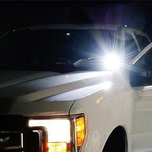 iJDMTOY A-Pillar LED Pod Light Kit For 2007-up Toyota Tundra