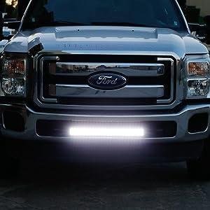 "iJDMTOY Lower Grille Mount 25"" LED Light Bar Kit For 2011-16 Ford F250 F350 Super Duty"