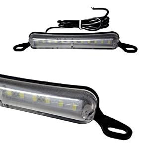 Universal Fit Bolt-On Xenon White 12-LED License Plate Light Lamp