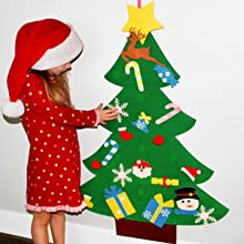 DIY Felt Christmas Tree Sets Ornaments for Kids Wall  Hanging Christmas Decorations Xmas Trees Decor