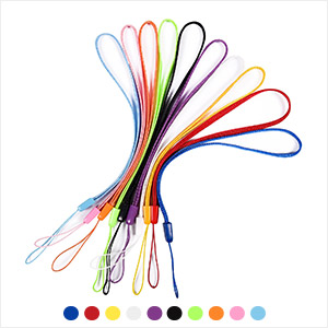 Pack of 50 Colorful Short Lanyards