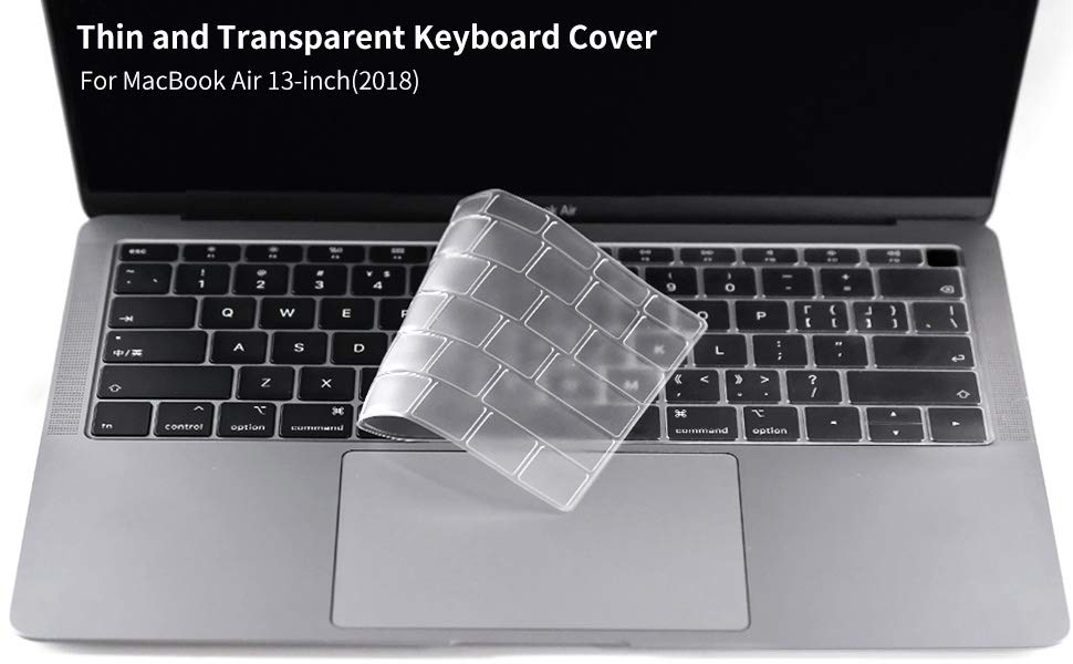 save off 3c170 06b01 CaseBuy Premium Ultra Thin Keyboard Cover Compatible Newest MacBook Air 13  Inch 2019 2018 Release A1932 with Retina Display Soft-Touch TPU Keyboard ...