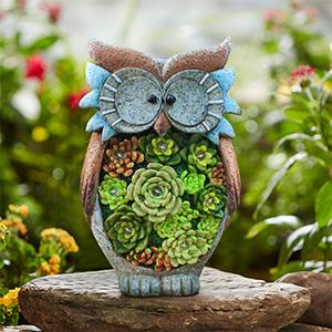 garden owl solar light
