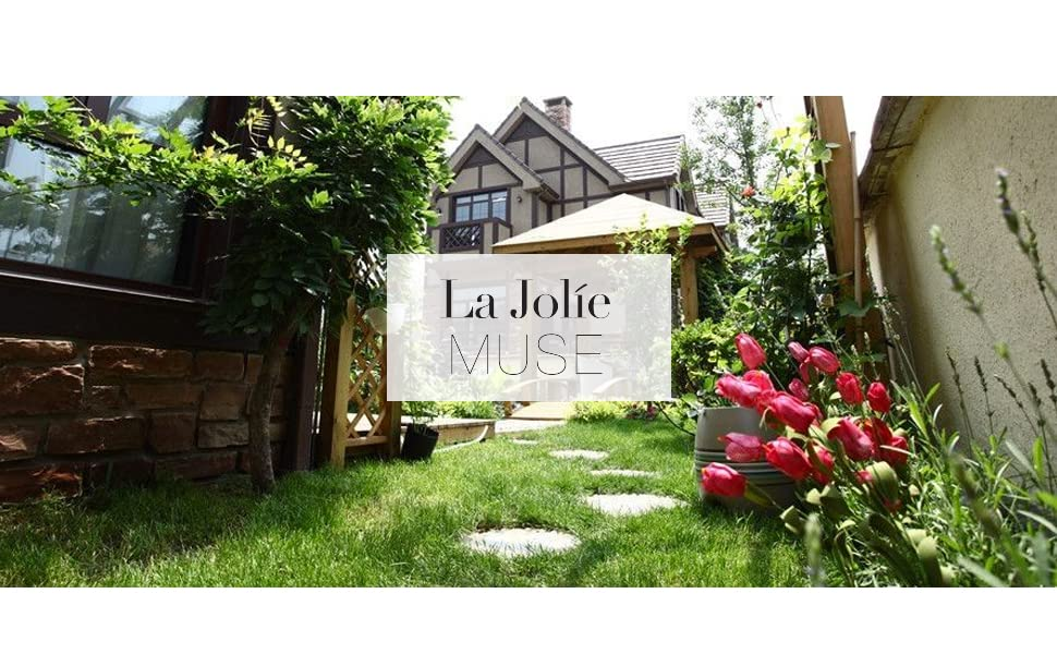 LA JOLIE MUSE garden statue decor banner