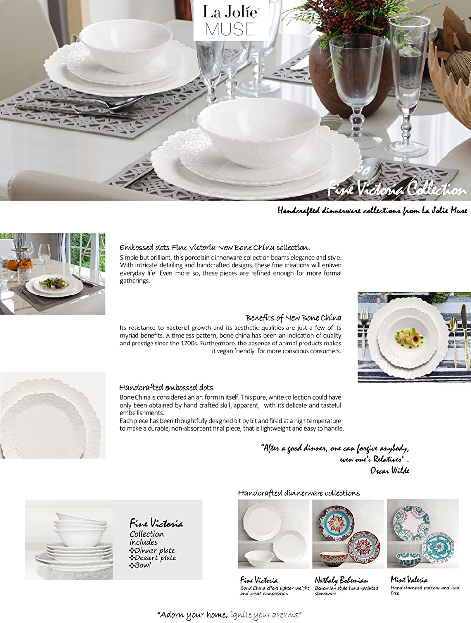 Product Description  sc 1 st  Amazon.com & Amazon.com | Dinnerware Set Service for 2 Scalloped Embossed Bone ...