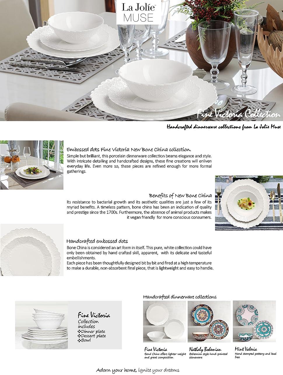 Product Description & Amazon.com   Dinner Plates Set of 4 Accent Serving Plates 10.2 Inch ...