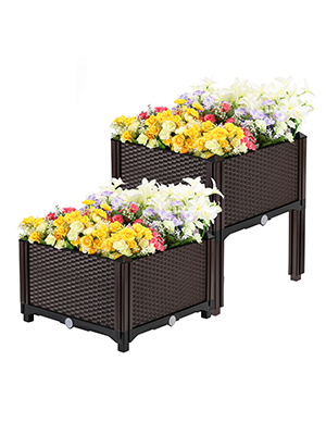 netuera Plant Grow Box Elevated Raised Garden Bed Kits Fit for ...