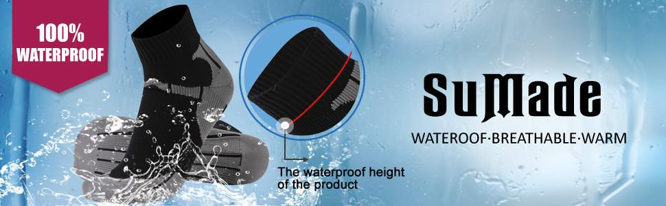 100%waterproof socks