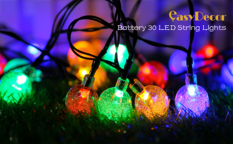easydecor rechargeable battery string lights