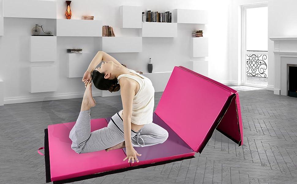 Amazon.com: KOOLWOOM - Esterilla de gimnasia de piel ...