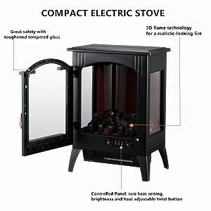 Amazon.com: KOOLWOOM - Estufa eléctrica portátil para ...
