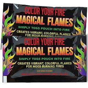 Mystical Fire Coloured Flames Powder Colour Changing Bonfire Fire X0M2