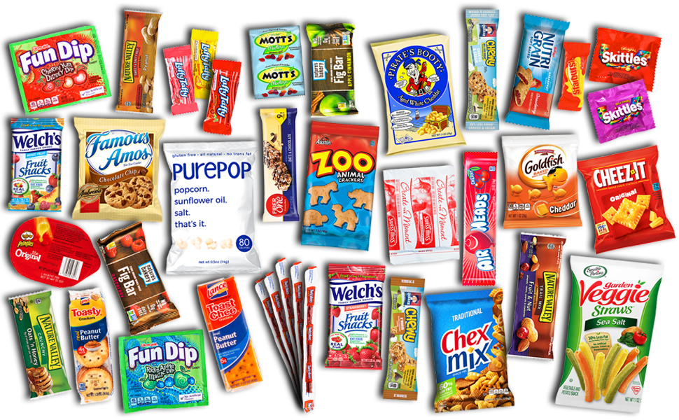 care package gift box pack bundle assortment variety snacks candy chocolate students birthday school