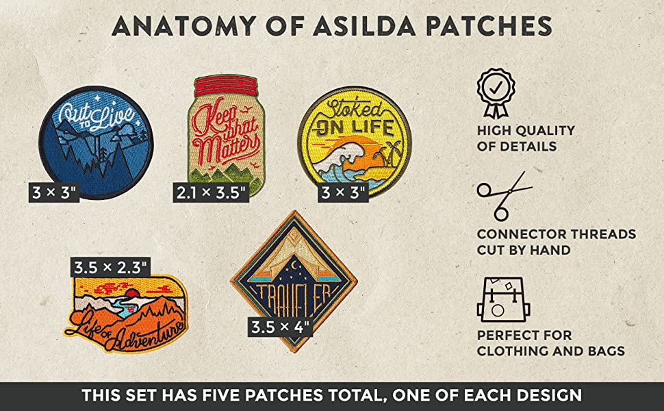 Asilda Store iron on patches
