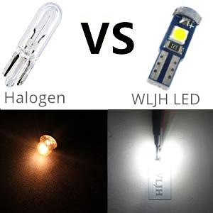 Halogen vs WLJH LED
