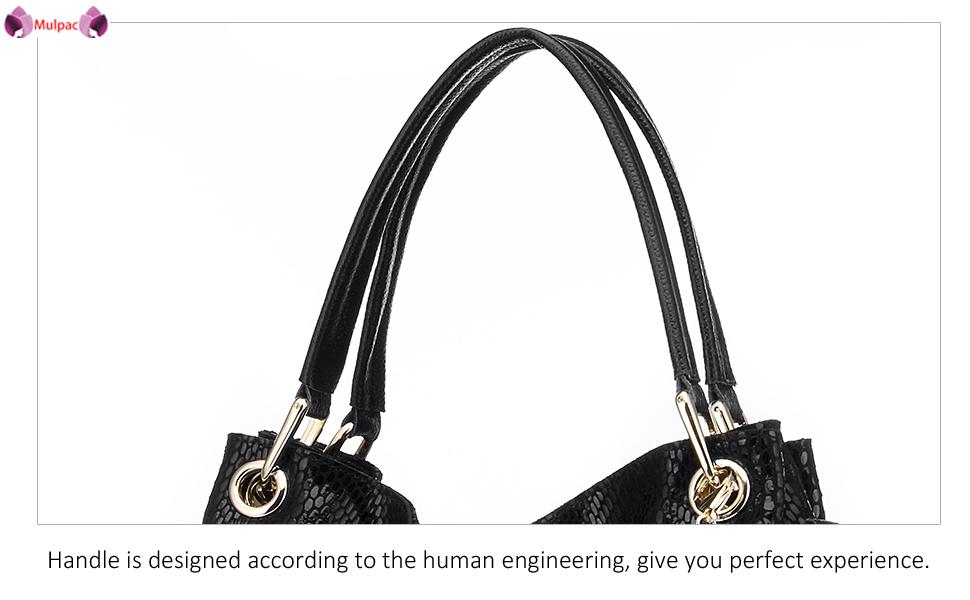 women Soft Leather Hobo Shoulder Bag Ladies Mulpac Top-handle Zipper Purses and Handbags