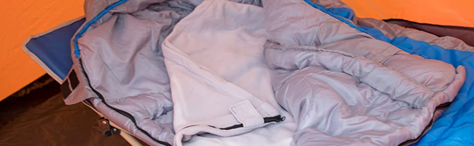 67a891cc78 Now that is some Cozy Camping! Pro Tip  Use our Osage River Fleece Sleeping  Bag liner blanket ...
