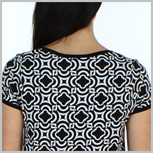 Scoop neckline with light shirring