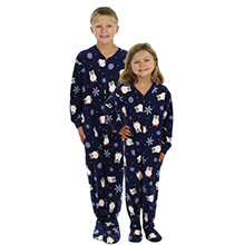 ef389e891 Amazon.com  SleepytimePjs Family Matching Penguin Onesie PJs Footed ...