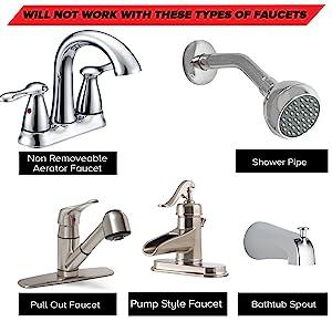 Smarterfresh Quick Connect Sink Faucet Sprayer Set Metal
