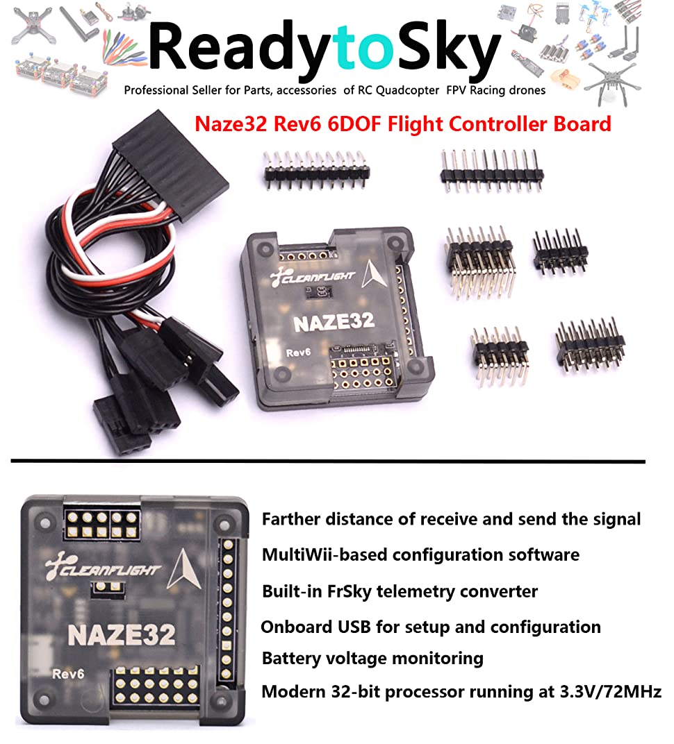Readytosky Naze32 Rev6 6DOF Flight Controller Board for QAV250 210 on