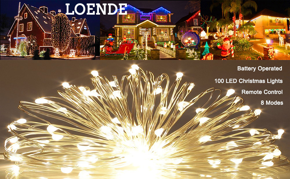 amazon com loende christmas lights battery operated string lights