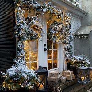 interior exterior Chnrong Luces de hadas de 5 metros color azul 50 LED jard/ín funciona con pilas decoraci/ón de Navidad para dormitorio