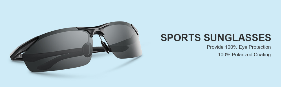 polarized sports sunglasses for men women,good for running,driving,fishing,golf,cycling,lightweight