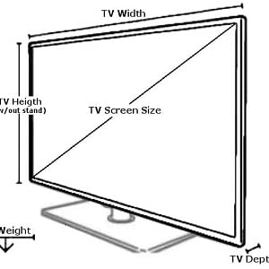 Television size, TV weight, tv dimensions, TV screen size
