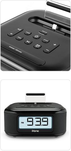 Amazon Com Ihome Ipl23 Alarm Clock Fm Radio With Lightning Iphone