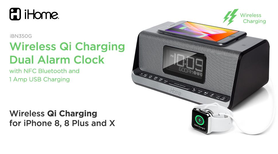 a6b2a962d8b Amazon.com  iHome Ibn350 Alarm Clock FM NFC Bluetooth Radio with ...