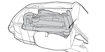 DJI Mavic Pro inside of UBK drone backpack (line drawing)
