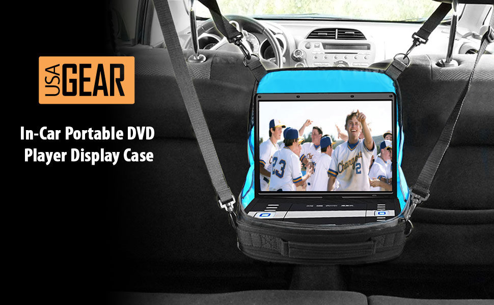 portable dvd player headrest car mount case by. Black Bedroom Furniture Sets. Home Design Ideas
