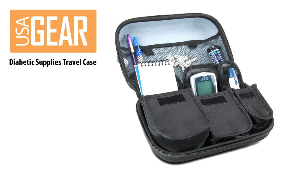 Amazon.com: Diabetic Supplies Travel Case Organizer for