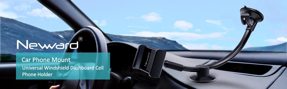 Newward Windshield Car Phone Mount