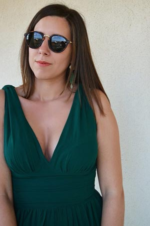 d53cceced0 This dress is fully lined. The bust is not padded and the plunging v-neck  design highlights both your decolletage and your back.
