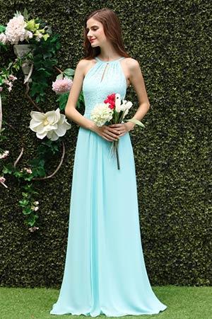 Amazon.com: Ever-Pretty Womens Lace Jewel Neckline Long Empire Waist ...