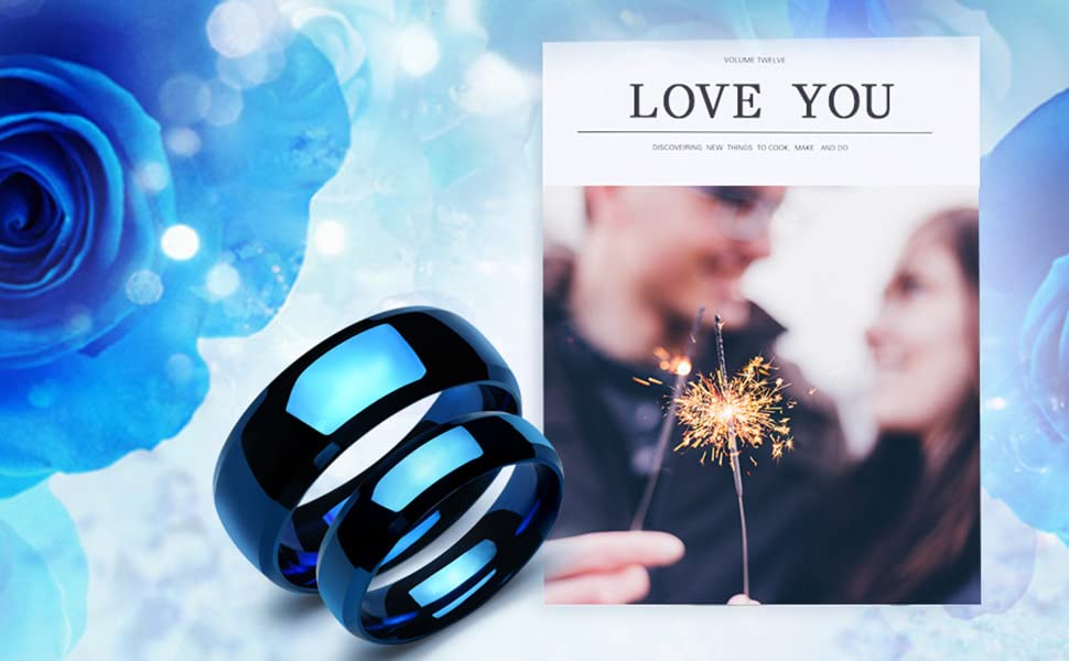 blue couple rings
