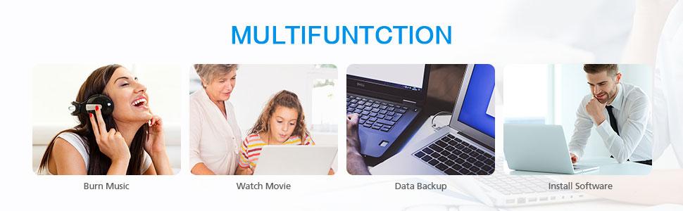 Multifunction DVD Drive USB C