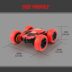 RC Toy Car Size Profile