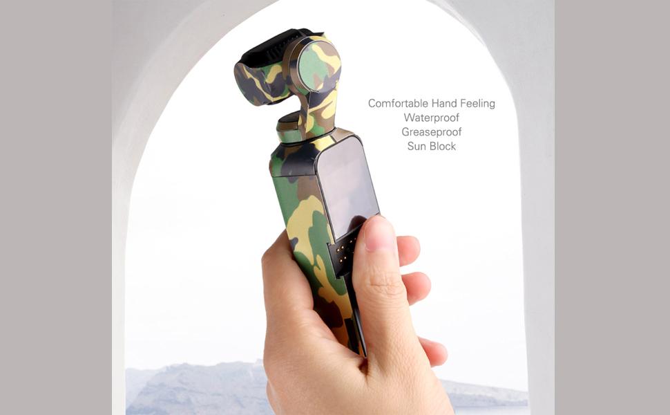 Owoda Decal Skin Sticker Luxury Metallic Color Skin Scrachproof Sunproof Waterproof PVC Stickers Protect for DJI OSMO Pocket