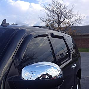 Outside Mount Rain Guards Visor Sun roof Type 2 5pc GMC Yukon 2007-2014 Model XL