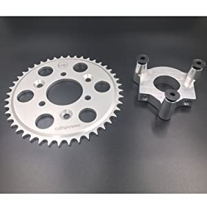 80ccBIKE HUB ADAPTER USE THE SPROCKET THAT IS IN ENGINE KIT BOLTS ON SUPER EASY