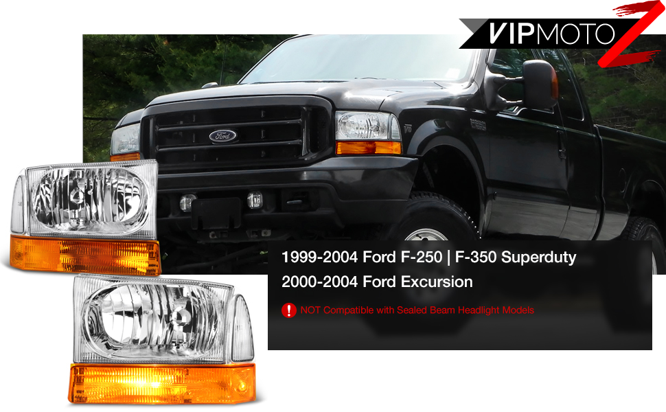 2000 Ford F350 Headlights