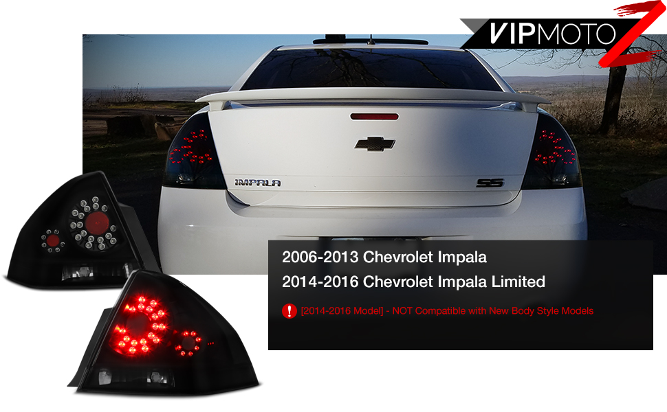 VIPMOTOZ Black Smoke LED Tail Light Lamp embly For 2006-2013 Chevy on