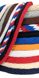 Ravenox Solid Braid Cotton Rope in Multiple Colors and Diameters