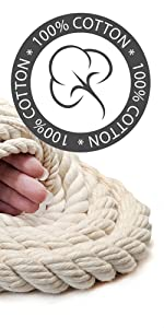 Ravenox 100% Cotton Natural Twisted Cotton Rope