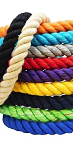 Ravenox Twisted Cotton Rope in 22 Solid Colors