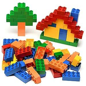 150 pieces bulk building blocks set bricks play set lead free safe gift box boys girls toddlers gift